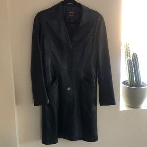 Daniel Leather Mid Length Coat